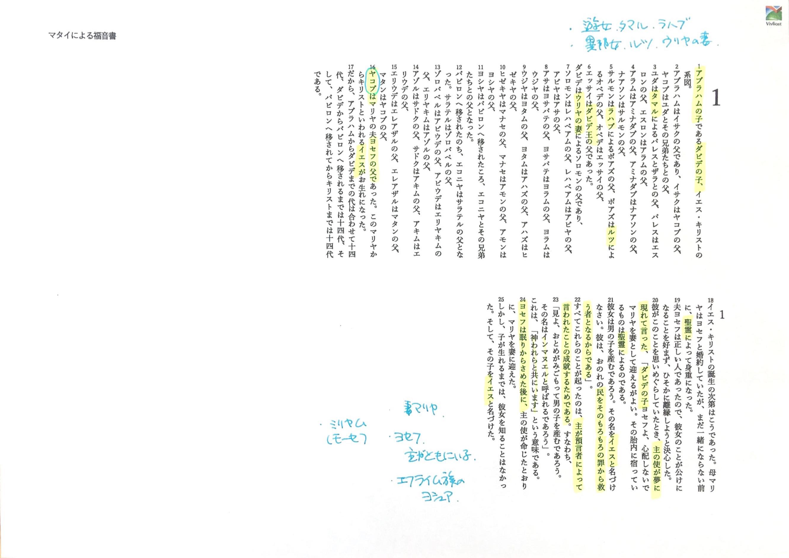 マタイ福音書 1-4章の構造分析